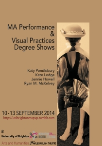 MA PVP Degree Show A5 front