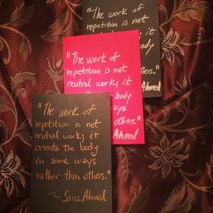 Thanks, Sara Ahmed^^
